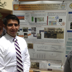 2013 Summer Research Poster Session: Gustavo presenting his summer research.