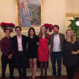 The Chabinyc Group gets fancy for the 2014 Materials Retreat