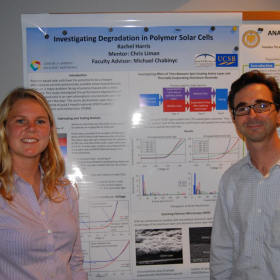 2012 CEEM: Rachel Harris at her poster session with Michael.